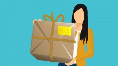 paketbild für werbung